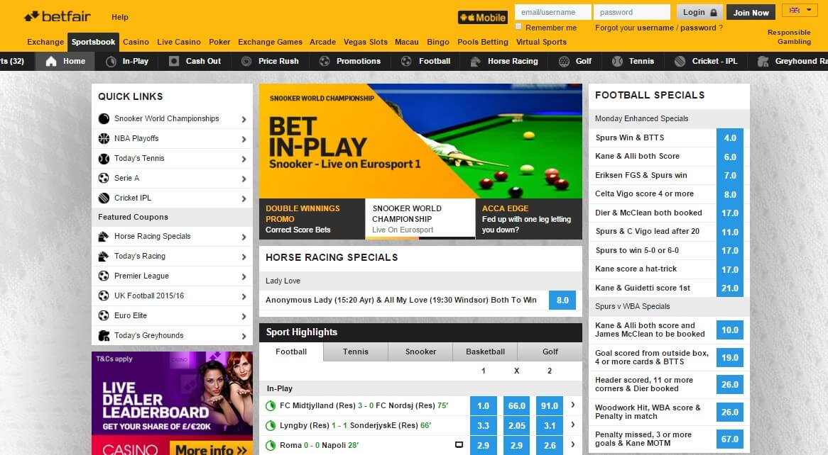 betfair sports betting games and matches